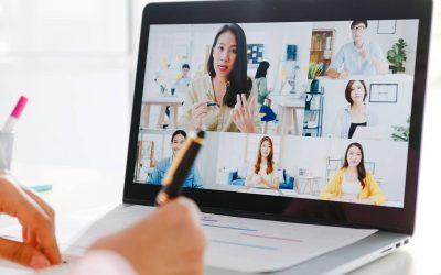 The Language of Online Meetings